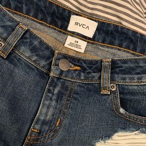 RVCA Cheeky Denim Distressed Shorts
